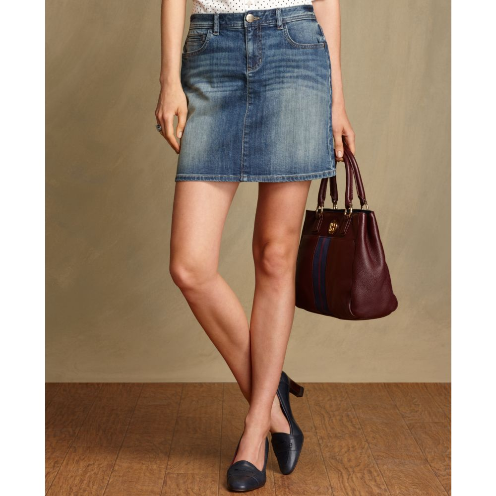 Good Prices buying new top-rated discount Tommy Hilfiger Blue Mini Broome Denim Skirt