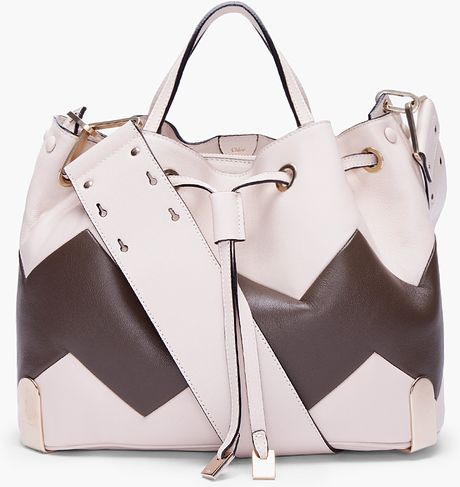 Chloé Ivory Charlie Zigzag Tote in White (ivory)