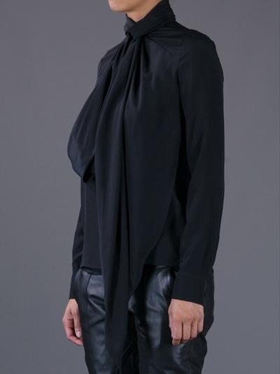 Givenchy Blusa De Pussybow Blusa De ORRSqI8