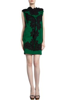 Lanvin Sleeveless Lace Appliqué Dress - Lyst