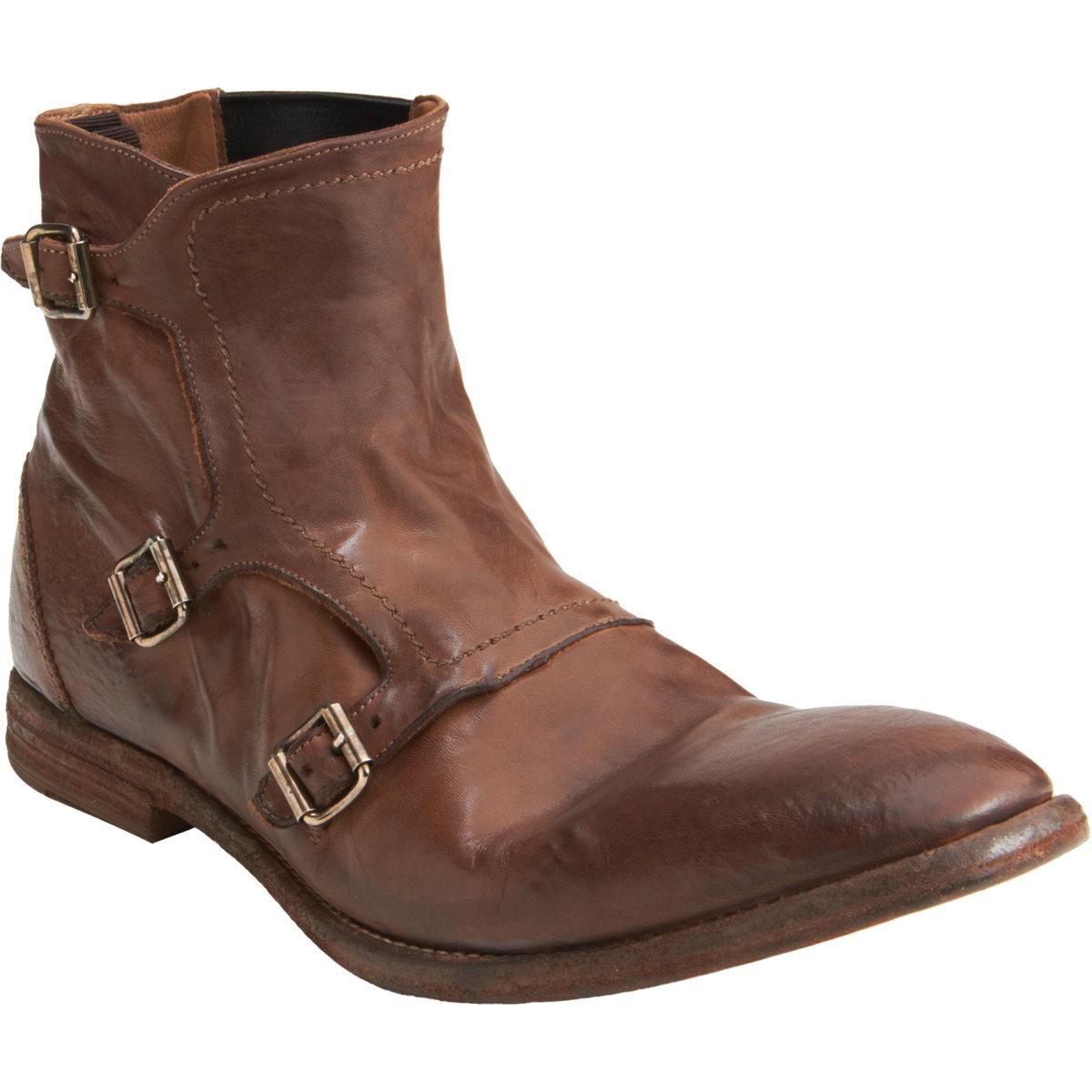 mcqueen monk boot in brown for lyst