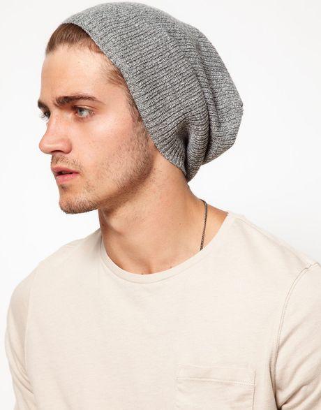 Knitting Pattern For Mens Oversized Beanie : Asos Asos Lightweight Oversized Knitted Beanie in Gray for ...