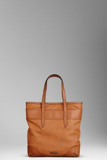 Burberry Medium Leather Tote Bag - Lyst