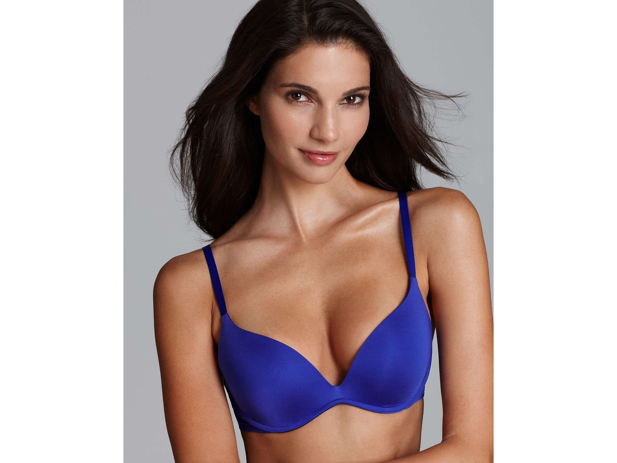 dfea786b2a Lyst - Calvin Klein Bra Push Positive Body Pushup in Blue