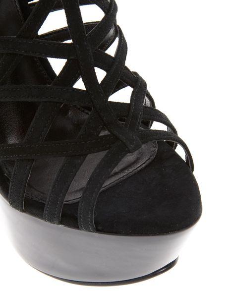 Carvela Kurt Geiger Glamorous Multi Strap Curved Heel