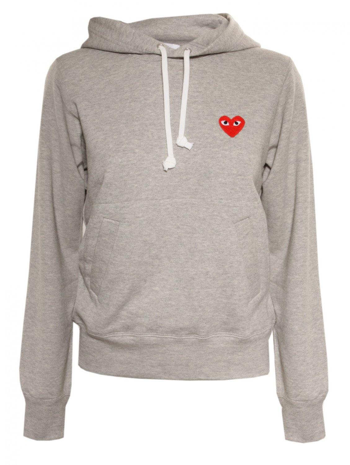 comme des gar ons play women 39 s red heart hoodie grey in. Black Bedroom Furniture Sets. Home Design Ideas