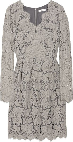 Erdem Vavinia Lace Dress in Gray