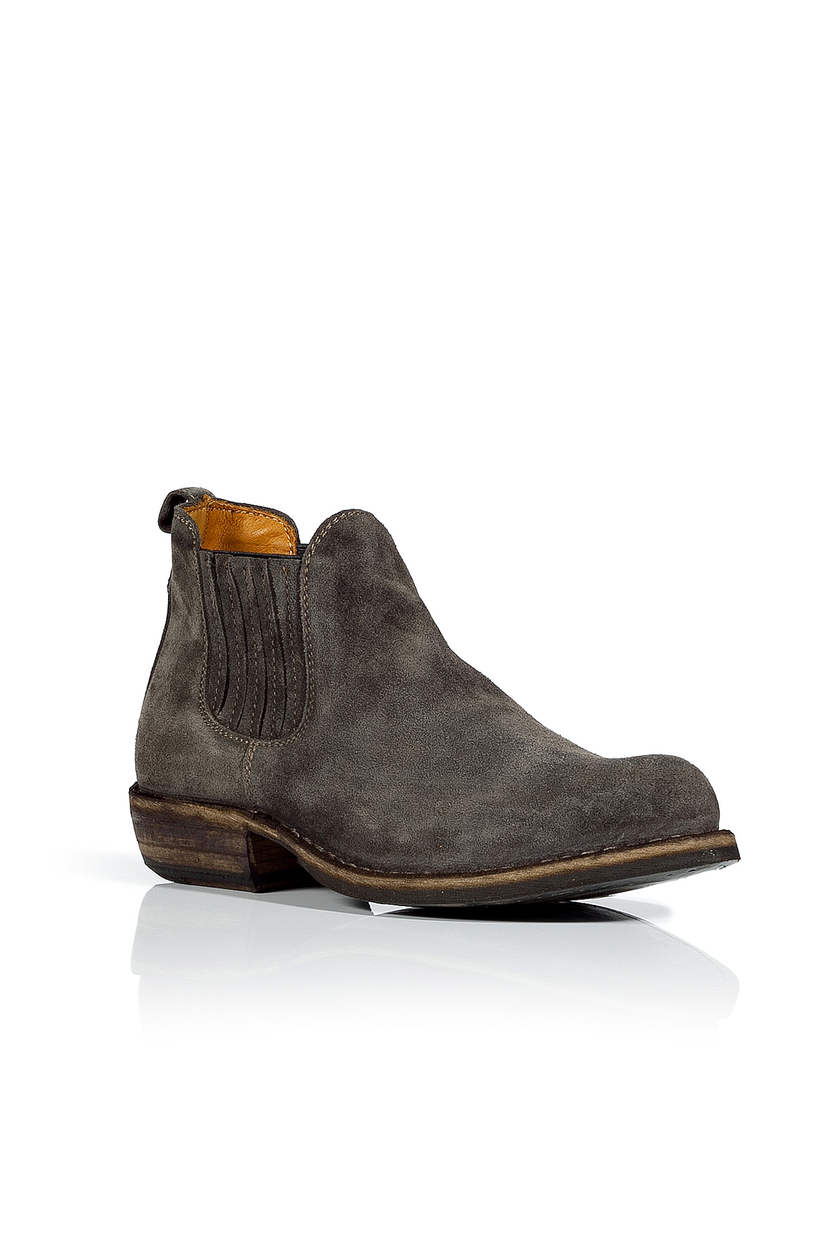 fiorentini baker light lava brushed suede ankle boots in
