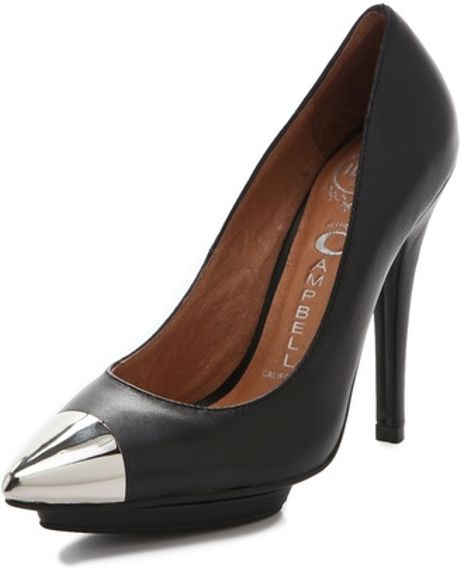 Jeffrey Campbell Bullet Cap Toe Pumps in Black - Lyst