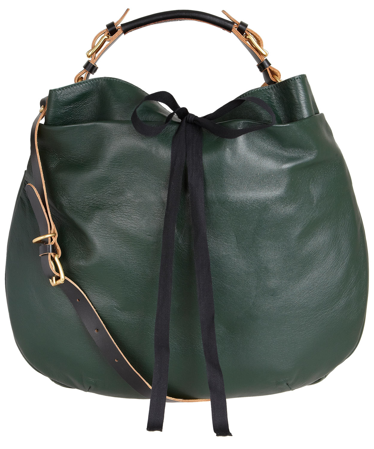 Marni Dark Green Leather Bag in Green | Lyst