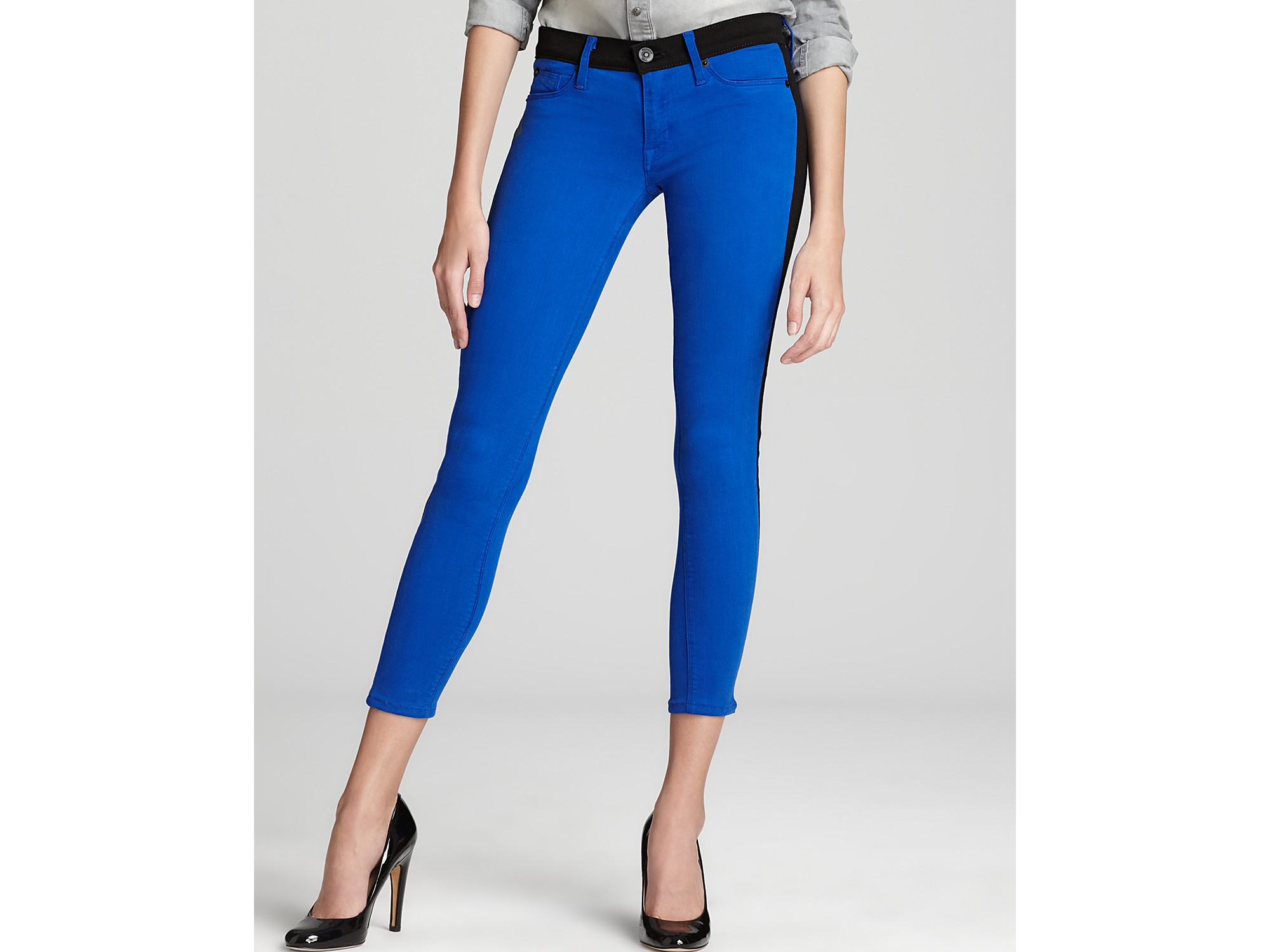 Retrosuperfuture Hudson Jeans Leeloo Color Block Skinny Crop in ...