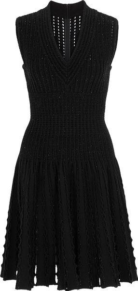 Alaïa Entrelacs Lux Dress in Black (sky)