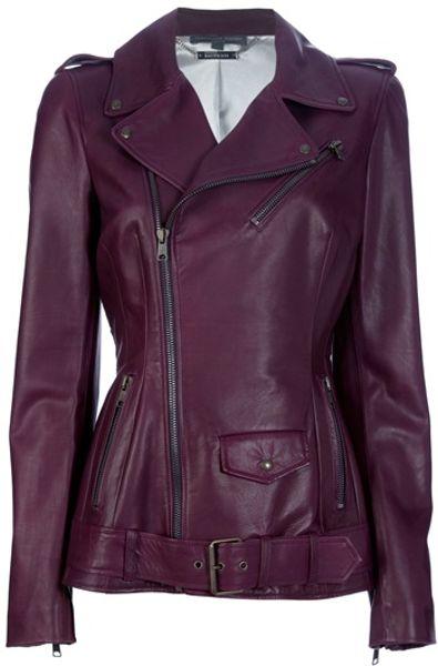 Alexander Mcqueen Biker Jacket in Purple (bordeaux)