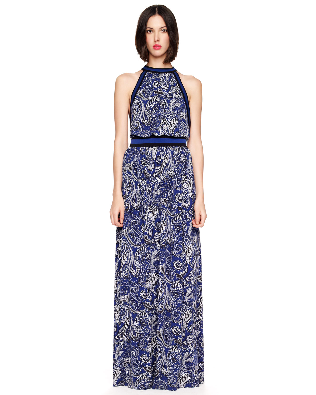 Michael Michael Kors Paisleyprint Maxi Dress in Blue ...