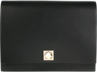Valentino Maxi Clutch in Cowhide Leather - Lyst