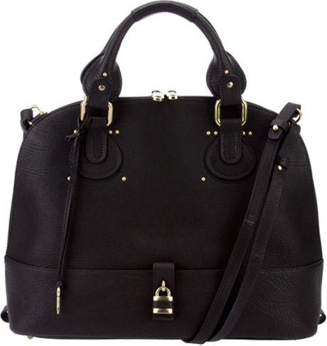 Chloé Padlock Bag in Black