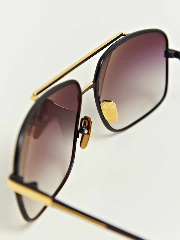Dita Black Eighteen Carat Gold Frame Sunglasses in Black ...
