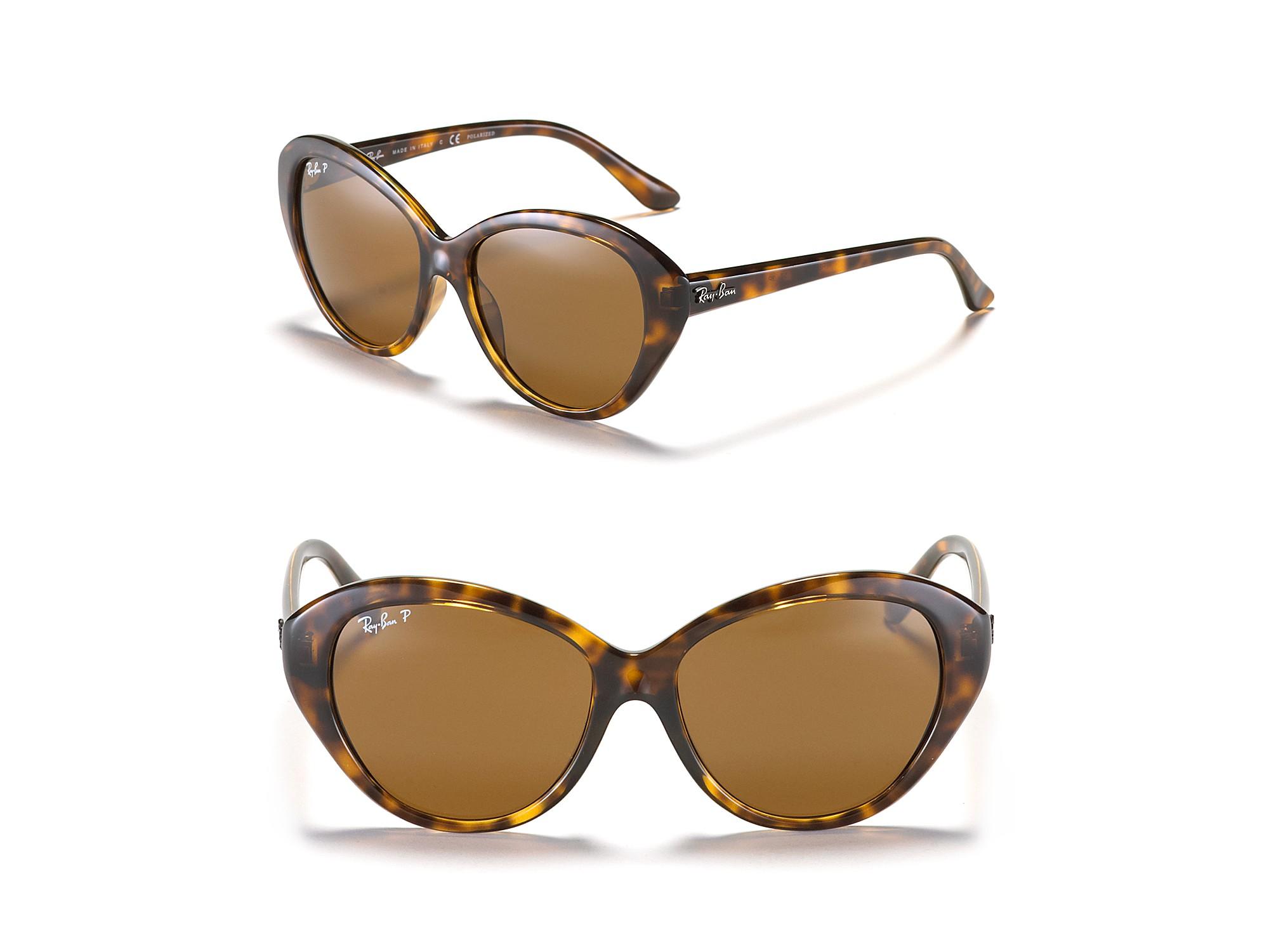 ray ban highsteet gradient cat eye sunglasses in brown. Black Bedroom Furniture Sets. Home Design Ideas