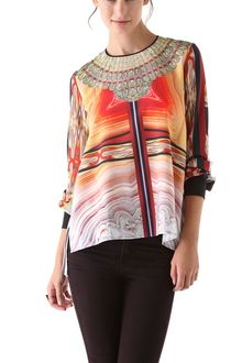 Clover Canyon Marble Necklace Blouse - Lyst