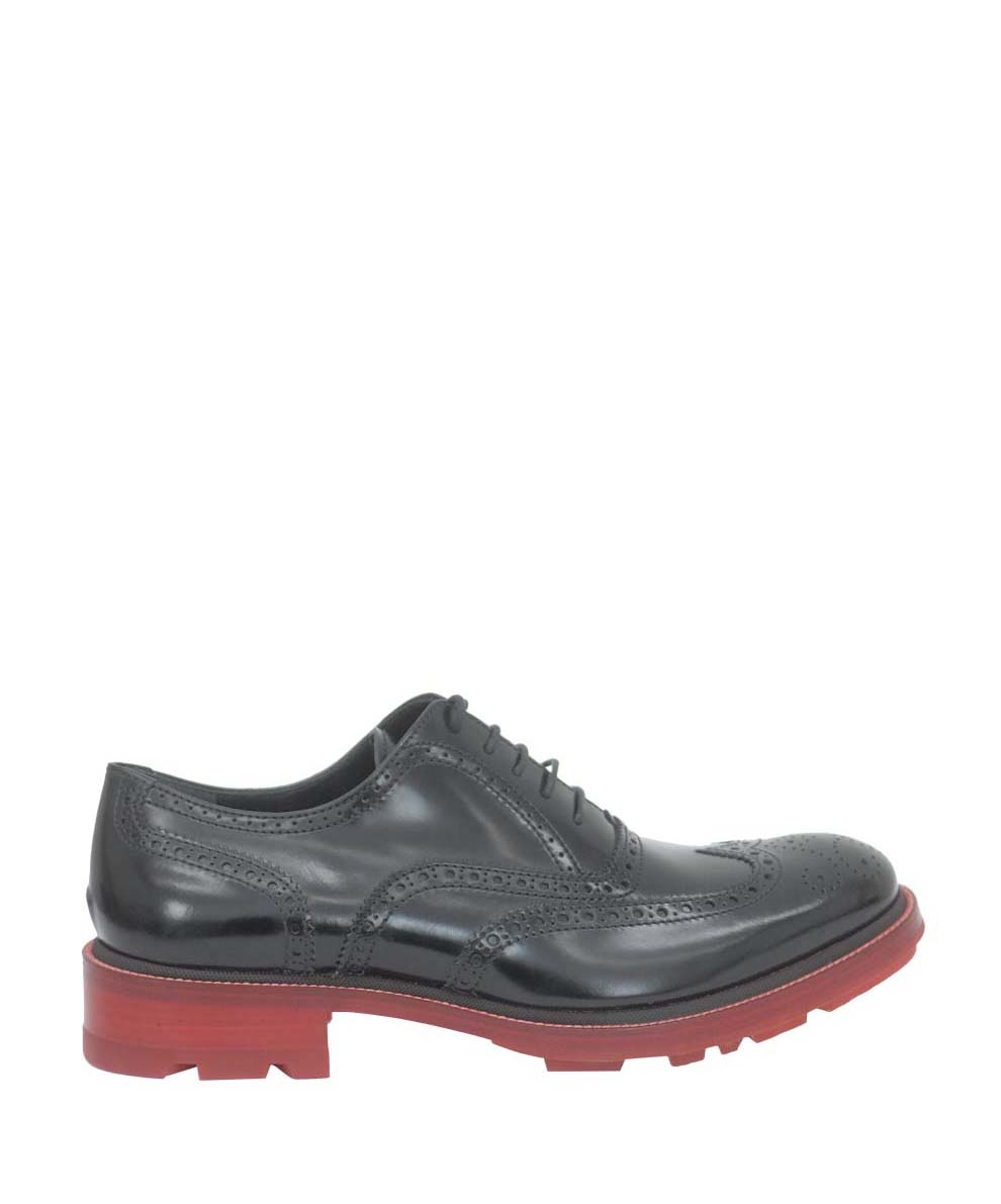 jil sander brogue bicoloured shoes in black for men lyst. Black Bedroom Furniture Sets. Home Design Ideas