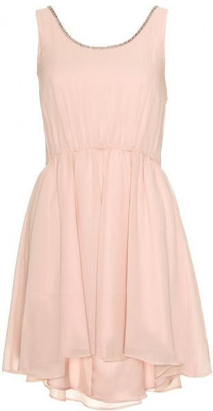 Alice + Olivia Jayme Trapeze Silk Dress in Pink