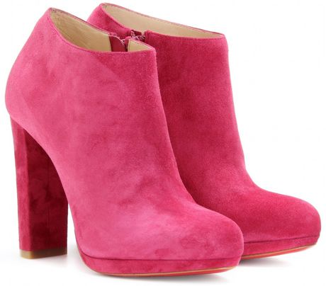 Pink Suede Ankle Boots Suede Platform Ankle Boots