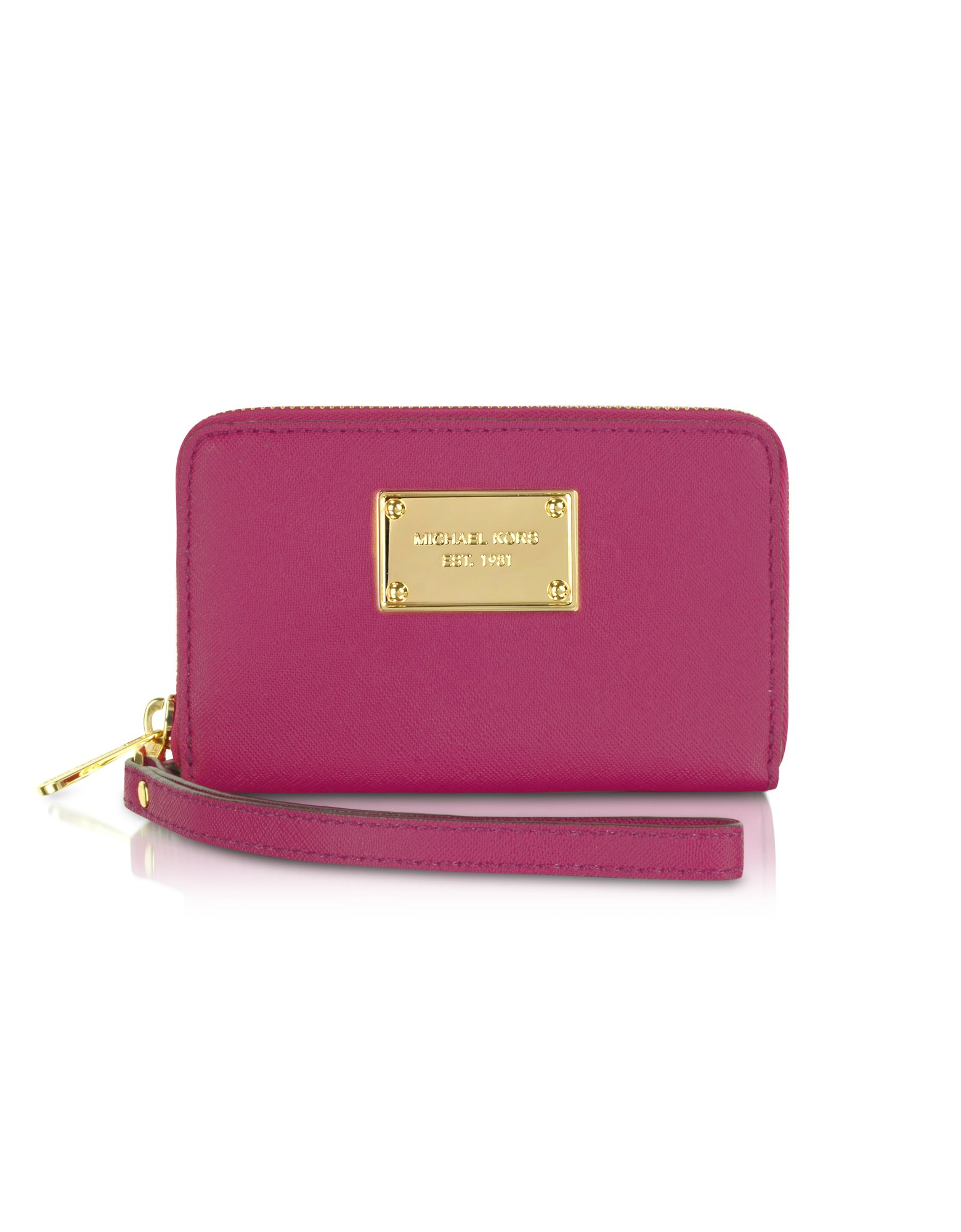 f127437a76c7f Michael Kors Michael Multi Function Iphone Case Zip Wallet in Pink ...
