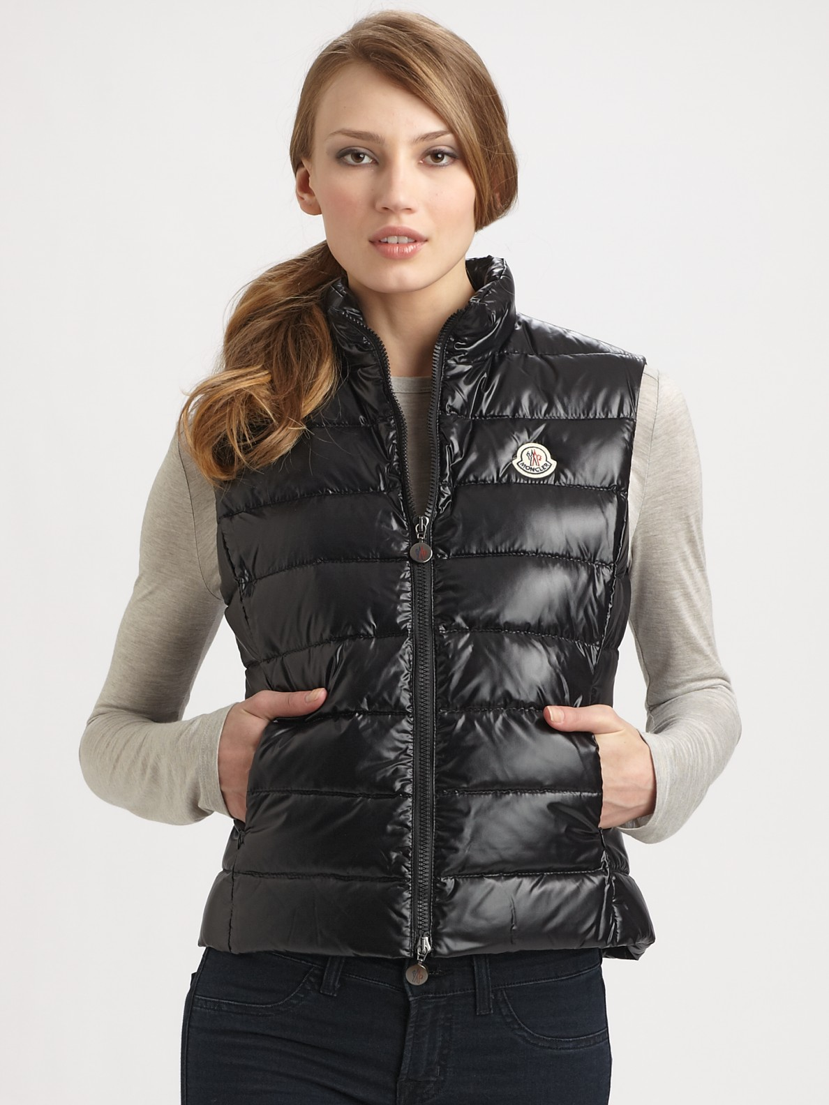 Moncler Quilted Nylon Vest In Black Lyst