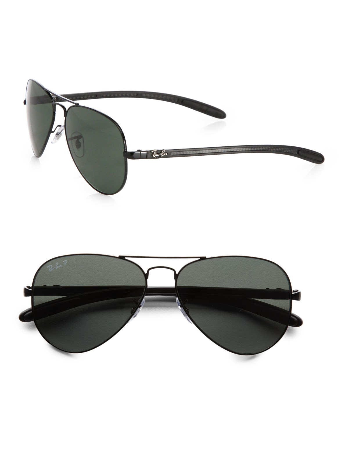 Ray-ban Tech Aviator Sunglasses in Black for Men - Save 6% ...