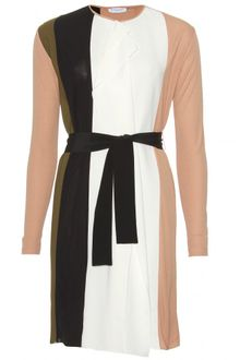 Vionnet Shift Dress with Ruffled Trim - Lyst