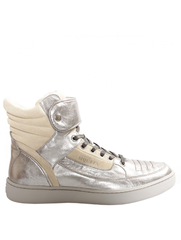 Alexander Mcqueen X Puma Joust High Top Metallic Silver in Metallic ... bd8387a8d