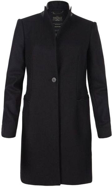 Allsaints Aleggro Coat in Black (ink)