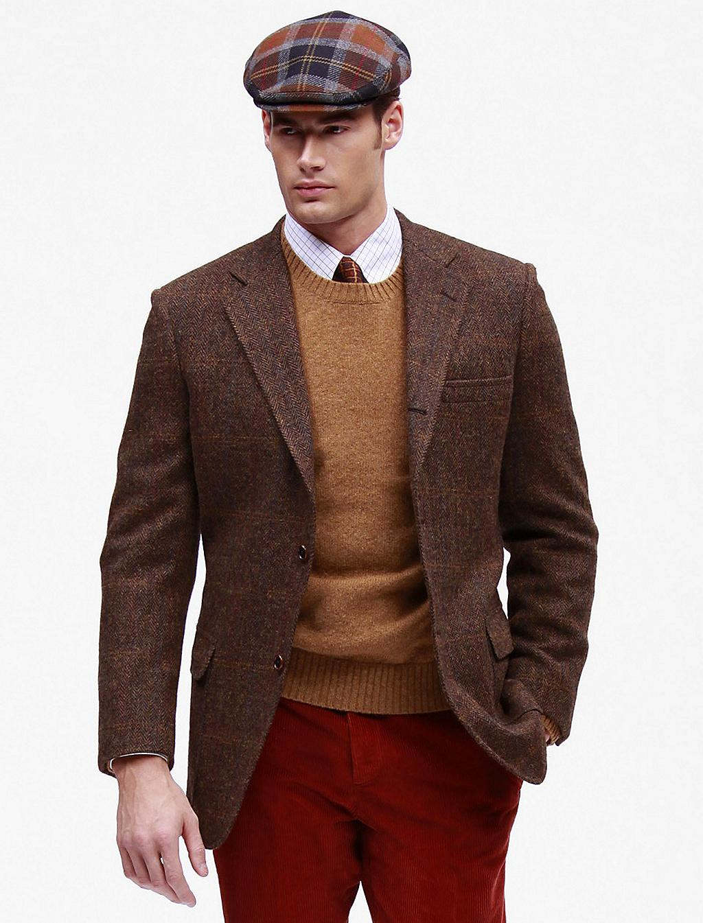 Brooks brothers Harris Tweed Sport Coat in Brown for Men | Lyst