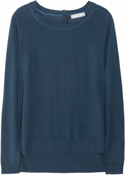 Dagmar Amida Merino Wool Sweater in Blue (petrol)