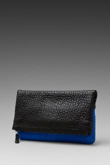 Graham & Spencer Foldover Clutch in Blackcobalt - Lyst