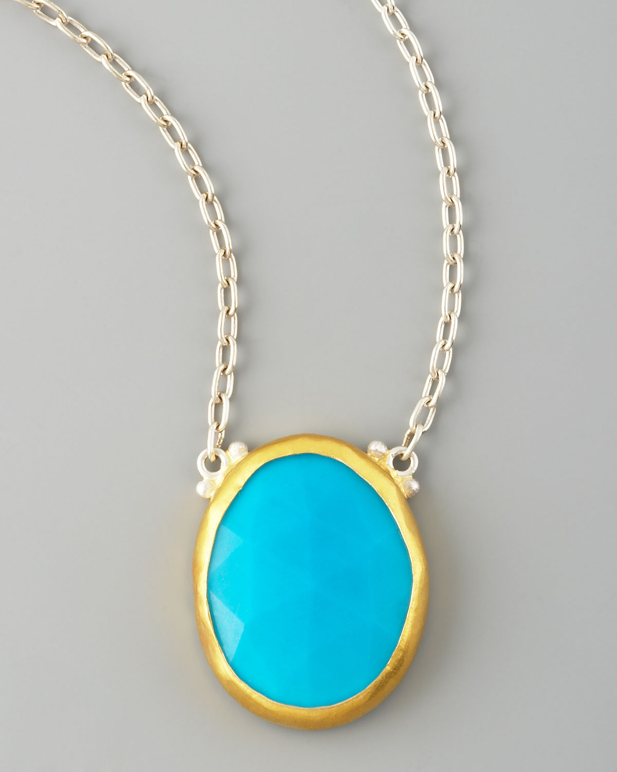 Lyst gurhan turquoise pendant necklace in blue gallery aloadofball Images