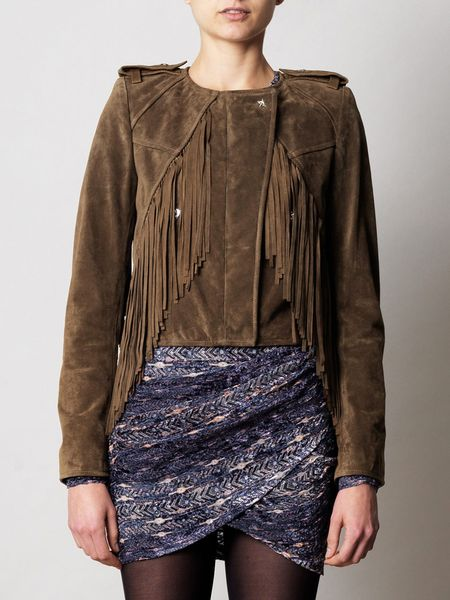 Isabel Marant Esther Jacket in Brown (khaki)