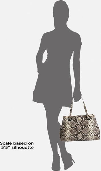 498 Kate Spade Gold Coast Maryanne Snake Python Quilted Leather Tote