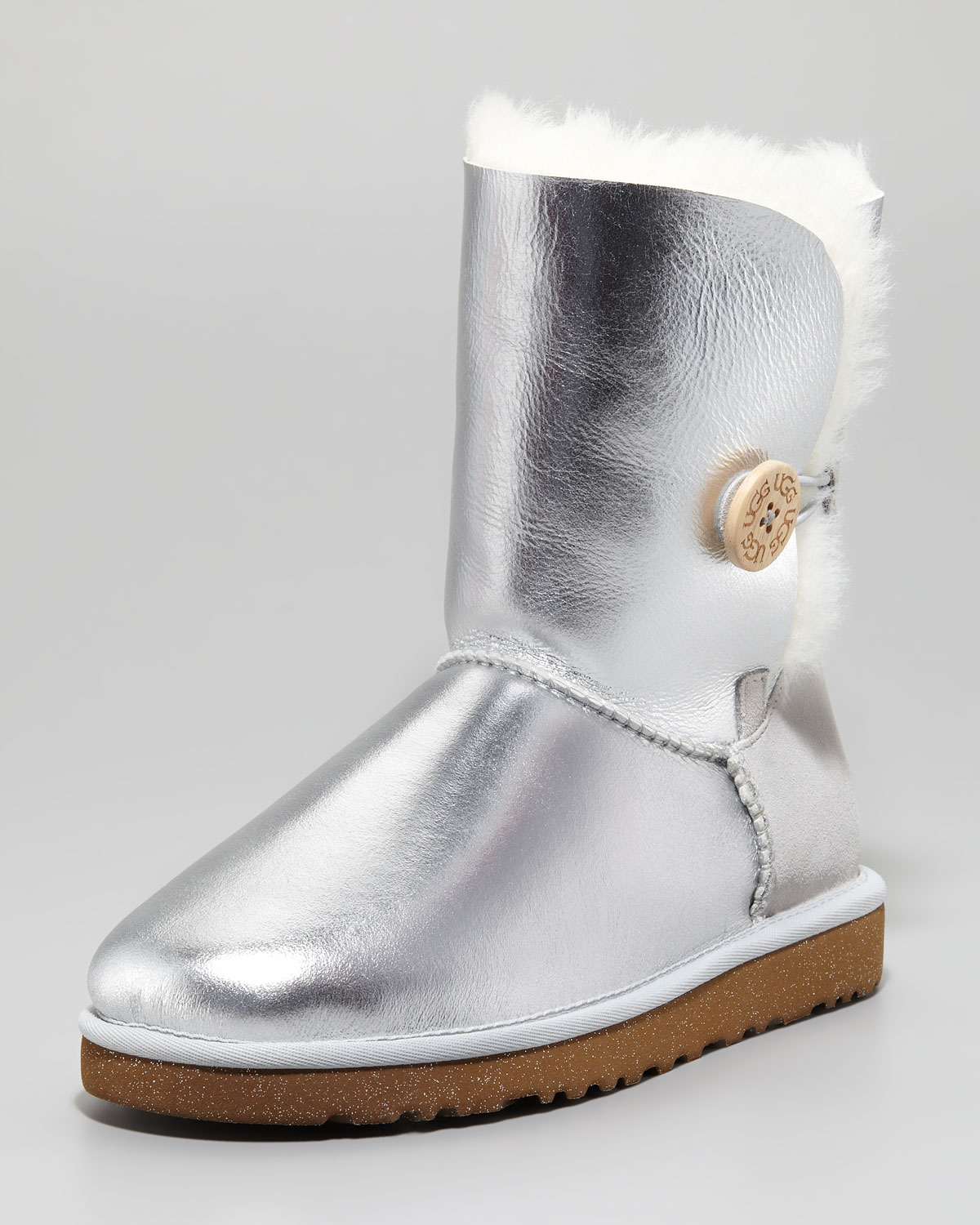 Lyst Ugg Bailey Button Short Boot Sterling In Metallic