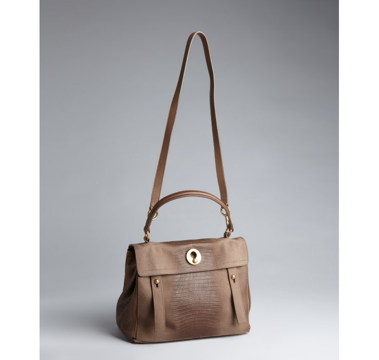 ysl muse two leather satchel