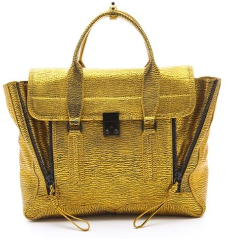 3.1 Phillip Lim Pashli Satchel in Yellow - Lyst