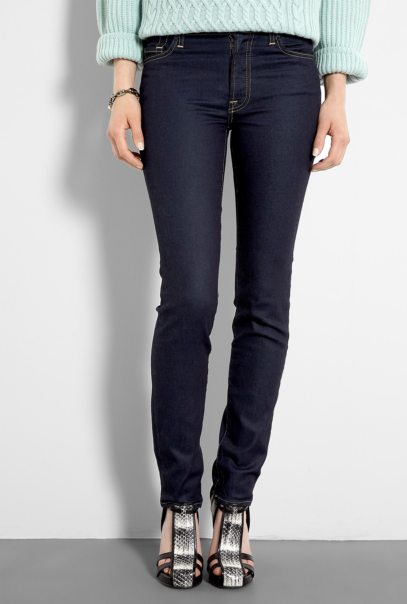 7 for all mankind blue orchid midrise roxanne skinny jeans. Black Bedroom Furniture Sets. Home Design Ideas