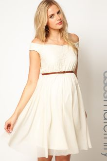 Asos Maternity Skater Dress with Off The Shoulder - Lyst
