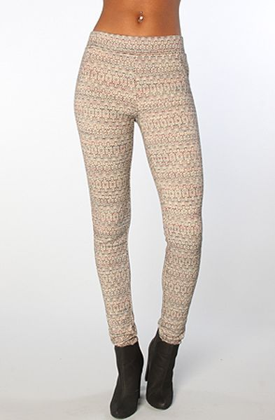 Free People The Patterned Double Knit Leggings in Black Combo in Black Lyst