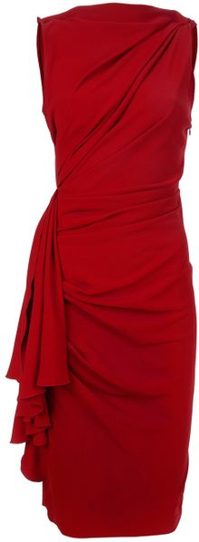Lanvin Sleeveless Dress in Red