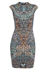 McQ by Alexander McQueen Feather Print Dress