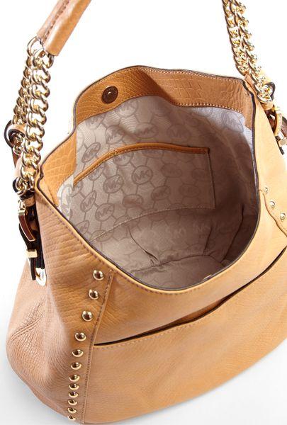 Michael Michael Kors Tan Middleton Medium Shoulder Bag in ...