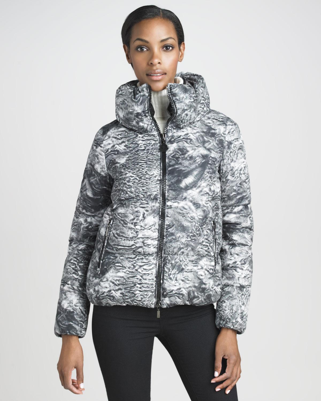 8d5193d50b63 Lyst - Moncler Astrakhan Furprint Blouson Puffer Jacket