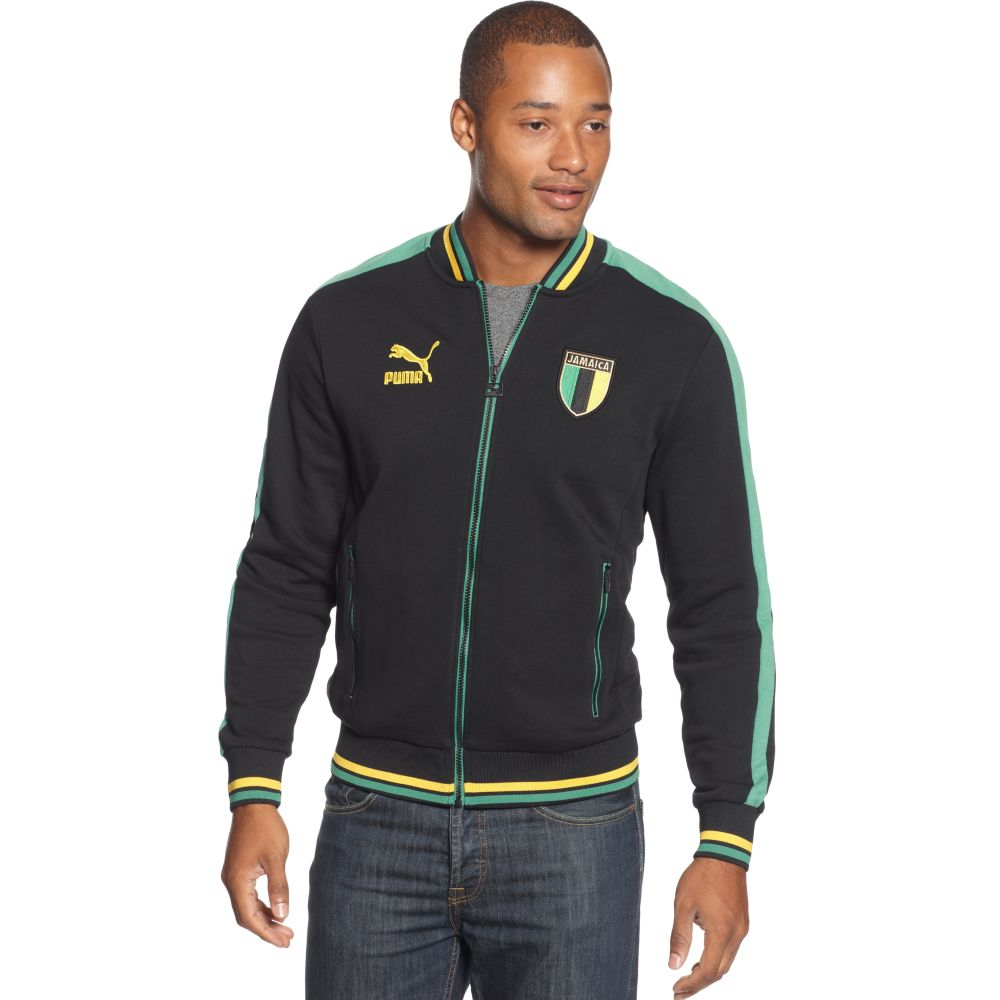 Lyst Puma Jamaica Country T7 Track Jacket In Black For Men