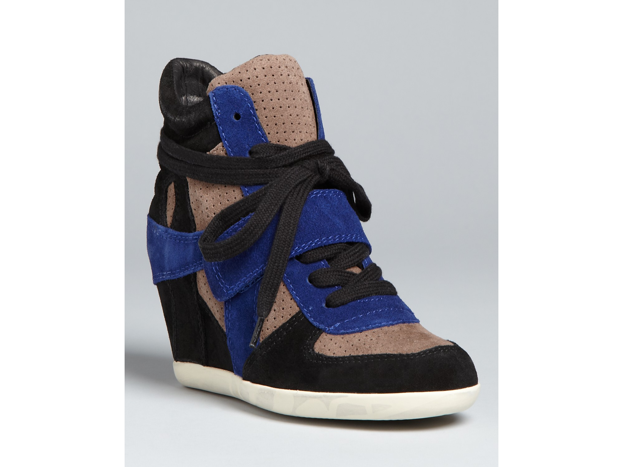 ash wedge high top sneakers bowie in blue lyst. Black Bedroom Furniture Sets. Home Design Ideas
